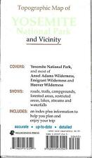 Topographic Map of Yosemite National Park & Vicinity, by Wilderness Press, Rare