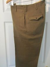 WW2 US ARMY 1941-45 WOOL SERGE O.D. COMBAT PANTS - NAMED & SERVICE NUMBER
