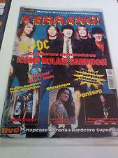 """REVISTA """"KERRANG! NUMERO 85"""" EN MUY BUEN ESTADO POSTER AC/DC SKA-P"""