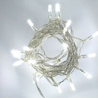 40 LED Clear White String Battery Wire Lights Xmas Wedding Party Decoration