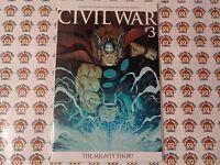 Civil War (2006) Marvel - #3, Thor Variant McGuiness CVR, 1st Print, VF