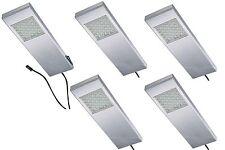 LED lámpara foco a 3w ACERO inox. Muebles 5-er Set Lámpara de cocina 542628