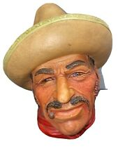 """Legends Products Chalkware Head """"Mexican"""""""