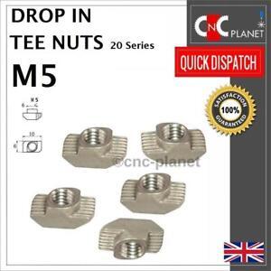 M5 Drop In Tee nuts T-Nut 2020 Aluminium Extrusion Profile T-Slot V-slot CNC 3D