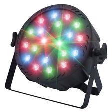 Kam StarWash 18W RGB Red Green Blue Par-Can Wash Light + Red Green Cluster Laser