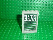 LEGO Western OldGray window 2493  + glass 2494 & Sticker BANK / 6765 Gold City