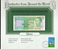 World Banknotes Ghana 1982 1 Cedi P-17a UNC Prefix BE