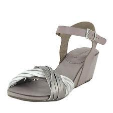 Ethem Okan Demi Wedge Sandal Purple White Silver Leather Size 9.5