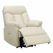 Power Lift Recliner Leather Reclining Chair Living Room Furniture Den  Recliners