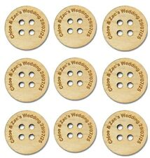 Personalised Wedding Favours Table Decorations Scatter Buttons Wooden Keepsake