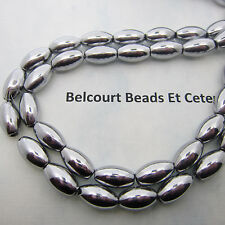 2 Strands of Silver Magnetic Beads 800GA - Oval Shape Size: 6x12mm 68 Beads