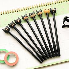 Cute Black Cat Gel Pen Kawaii Stationery Gift School Korean Office Supplies- set