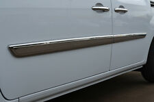 CHROME SIDE DOOR STREAMER TRIM SET COVERS ACCENTS S.STEEL FOR RENAULT KANGOO 08+