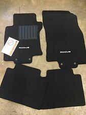NEW OEM NISSAN ROGUE 2014-2016 BLACK CARPET FLOOR MATS - 4 PC SET