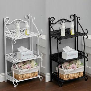 Metal Ladder Shelf 3 Tier Flower Pot Plant Stand Bookshelf Bathroom Storage Rack