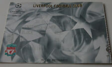 Ticket for collectors CL Liverpool FC Valencia CF 2002 England Spain