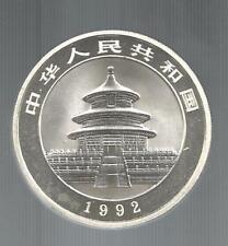 Cina, 1992, Panda, 10 Y., Fondo Specchio. Cifre della data piccole.