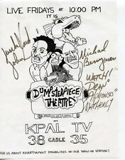 P054 Junkyard John, Michael Berryman & dean Alphonso Autographed handout