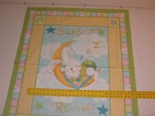 Sweet Dreams Bunny Baby Panel Cotton Fabric
