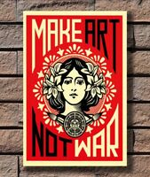 ZA1071 MAKE ART NOT WAR Poster Hot 40x27 36x24 18inch
