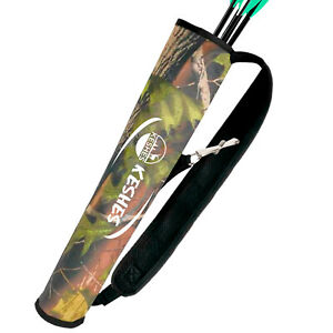 Archery Quiver Back Arrow Holder with Belt Clip, Adjustable for Bow Hunting