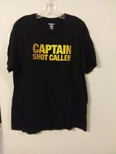 Captain Morgan 100 Proof XL Mens Captain Shot Caller Shirt Black J1