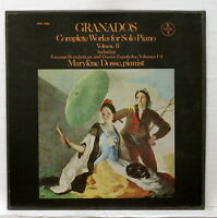 MARYLENE DOSSE - GRANADOS works for piano solo vol.2 VOX BOX 3xLPs box EX++