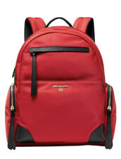 ❤️ Michael Kors Prescott Nylon Bright Red Multi/Gold Backpack