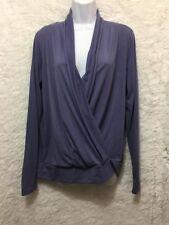Aspire women's cardigan Wrap sweater size M Purple Long Sleeve See*