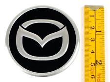 "MAZDA *4 x NEW* Emblems 60mm (2 3/8"") WHEEL CENTER CAP STICKERS 3D DECALS"