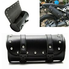 Motorcycle Front Fork Tool Bag Pouch Luggage SaddleBag Leather For Touring USA