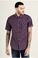 True Religion $149 Men's Plaid Woven Slim Button Up Shirt/Top - M10007AU7