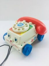 Fisher Price Chatter Toy Rotary Telephone Rolling Phone 2009 Mattel Ringing Bell