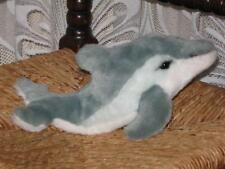 Steiff Germany Cosy Finny Dolphin 095023 1991 2003 Squeaker Button Tag