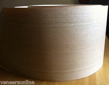 "IRON-ON WHITE OAK WOOD VENEER SHEET 2500mm x 200mm 100"" x 8"""
