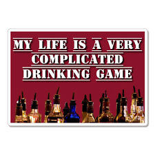 "Drinking Game Funny car bumper sticker decal 6"" x 4"""