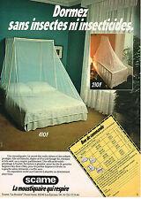 PUBLICITE  1979   SCAME  le moustiquaire qui respire