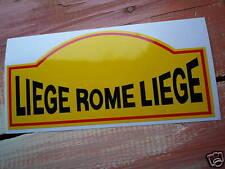 Liège Rome Liège Classic Rally autocollant style plaque Voiture Route 150mm COURSE JAGUAR mg