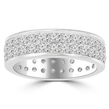 3.40 ct Men's Round Cut Diamond Eternity Wedding Band Ring In 950 kt Platinum