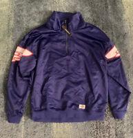 Nike Air Jordan Wings Classic 1/4 Zip Pull Over Sz L MSRP $125 Blue AO0406-455