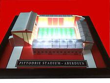 ABERDEEN PITTODRIE MODEL STADIUM WITH WORKING FLOODLIGHTS