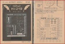 Entropy Models Uhu He219 A-0 A-7 Photo-Etch for 1/72 Scale Model Kit