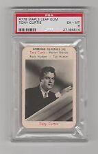 1958 R778 MAPLE LEAF GUM TONY CURTIS CARD PSA 6 EX-MT CONDITION