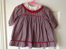 Infant Girls Holiday Check Print size 3 Months