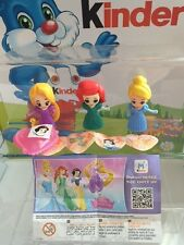 Kinder Surprise Disney Princess Limited Edition 2016 Complete Set INDIA RARE