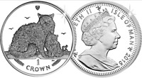 2015 Isle of Man Rex Selkirk Cat Crown Brilliant Uncirculated coin XMAS gift