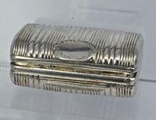 1817 purse shape Georgian silver box for pills snuff or similar