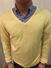 H&M Strick Pullover Sweatshirt Pulli Gr. M gelb 100% Merinowolle wie NEU