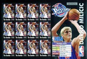 2005 Gambia, basketball, NBA stars, 6 sheets (set), MNH