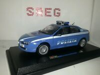 Alfa Romeo 159 q4 polizia 1:24  1/24 burago  die cast ultima